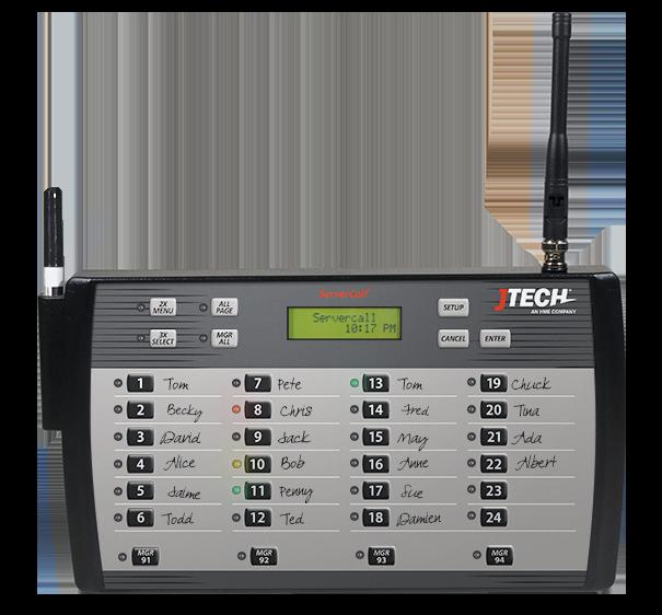 ServerCall Transmitter - Server Paging